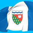 Stock Photo: Flag of Northwest Territories, Canada.