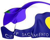 Flag of Sacramento, USA. — Stock Photo