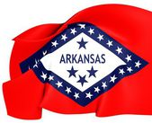 Flag of Arkansas, USA. — Stok fotoğraf