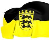 Flag of Baden-Wurttemberg, Germany. — Stock Photo
