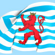 Civil Ensign of Luxembourg — Stock Photo #26728259