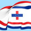 Governor of Netherlands Antilles Flag — Stock Photo #26808139