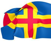 Flag of Aland Islands — Stock Photo
