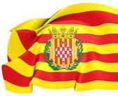 Bandera de la provincia de girona, españa. — Foto de Stock