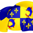 Flag of Dauphine, France. — Foto Stock