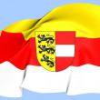 Flag of Carinthia, Austria. — Stock Photo