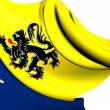 Flemish Community Commission Flag — Stock Photo