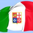 Civil Ensign of Italy — Stock Photo #27815667