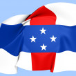 Netherlands Antilles Flag (1954-2010) — Stock Photo