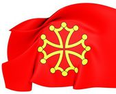 Flag of Languedoc, France. — Stock Photo