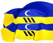 Flag of Ameland, Netherland. — Stock Photo