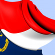 Flag of North Carolina, USA. — Stock Photo #30062671
