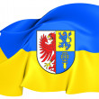 Flag of Altmarkkreis Salzwedel, Germany.  — Stock Photo