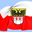Flag of Duisburg — Stock Photo