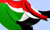 Flag of Sudan — Stock Photo