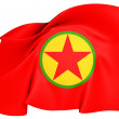 Kurdistan Workers' Party Flag — Stock Photo