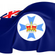 Flag of Queensland, Australia.  — Stock Photo
