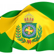 Empire of Brazil Flag (1822-1889) — Stock Photo