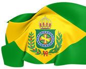 Empire of Brazil Flag (1822-1889) — Stock Photo