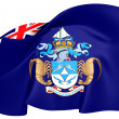 Flag of Tristan da Cunha — Stock Photo