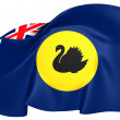 Flag of Western Australia — Stock Photo
