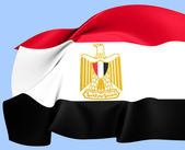 Flag of Egypt — Stock Photo