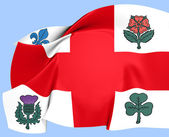 Flag of Montreal — Stock Photo
