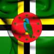 Stock Photo: Flag of Dominica
