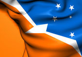 Flag of Tierra del Fuego, Argentina.  — Stock Photo