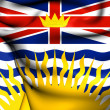 Flag of British Columbia, Canada.  — Stock Photo #42032039
