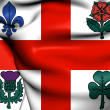 Flag of Montreal, Canada.  — Stock Photo #42032119