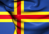 Flag of Aland Islands, Finland. — Stock Photo