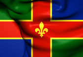 Flag of Lincolnshire, England.  — Stock Photo