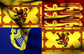 Royal Standard of United Kingdom in Scotland — Stock Photo