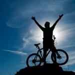 Постер, плакат: Mountain biker