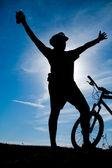 Dağ motorcu — Stok fotoğraf