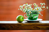 Filiżanka herbaty rumianku — Zdjęcie stockowe