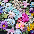 Ribbon embroidery. Floral ribbon background — Stock Photo