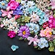 Stock Photo: Ribbon embroidery. Floral ribbon background
