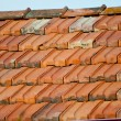 Old style ceramic tiles on the roof — Stock Photo