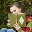 Beautiful girl with book — Stock Photo