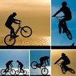 Постер, плакат: Mountain bike collage