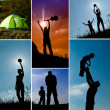 Family camping collage — Stock Photo #25063753