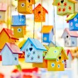 Stock Photo: Birdhouses background