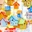 Birdhouses background — Stock Photo