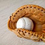 Baseball and mitt — Stock Photo
