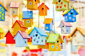 Fundo birdhouses — Foto Stock