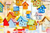 Tło birdhouses — Zdjęcie stockowe