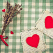 Greeting card to St. Valentine's day with hearts — 图库照片