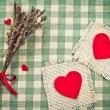 Greeting card to St. Valentine's day with hearts — Stok fotoğraf #38044375